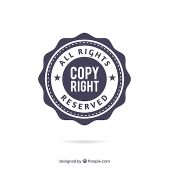 Modern copyright symbol template
