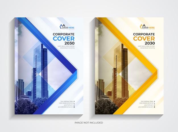 Modern corporate book cover design template set