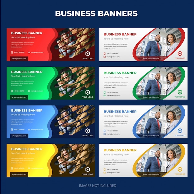 Modern corporate business banner collection