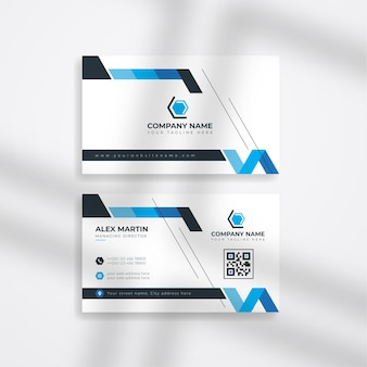 Modern corporate business card or company business card