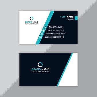 Современный корпоративный шаблон дизайна визитной карточки
