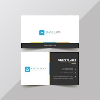 Modern corporate business card template premium