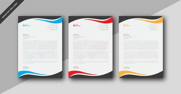 Шаблон оформления фирменного бланка формата а4 современного корпоративного бизнеса