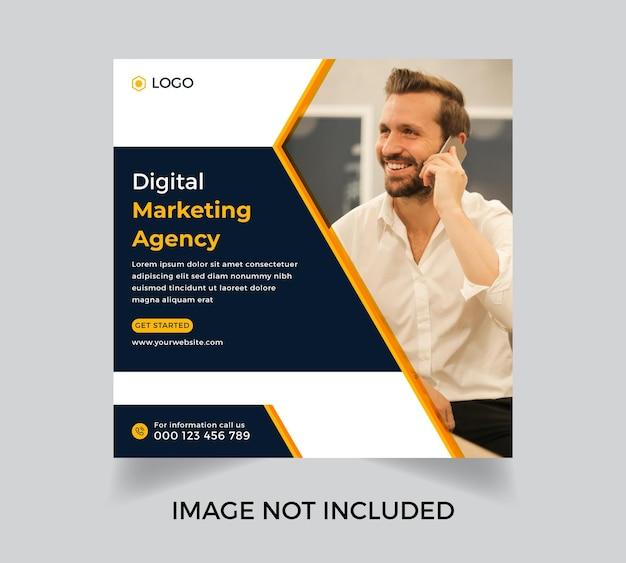 Modern corporate business digital marketing agency post template design