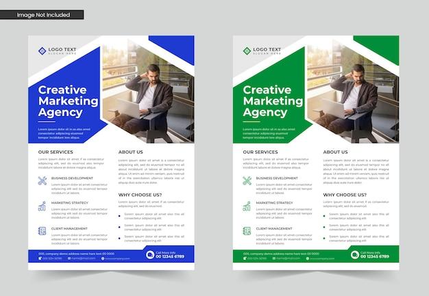 Modern corporate business flyer template design