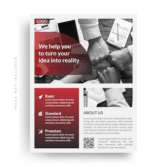 Modern corporate business flyer template