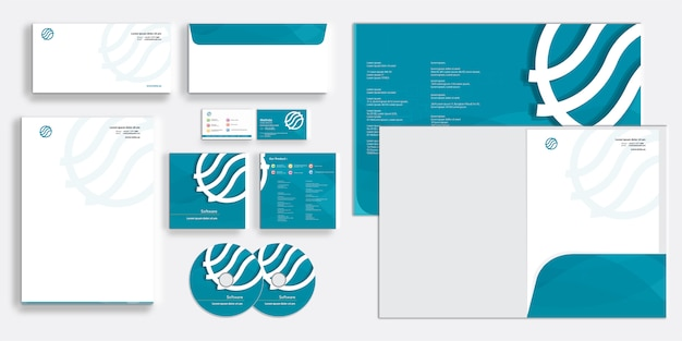 Modern corporate business identity stationary