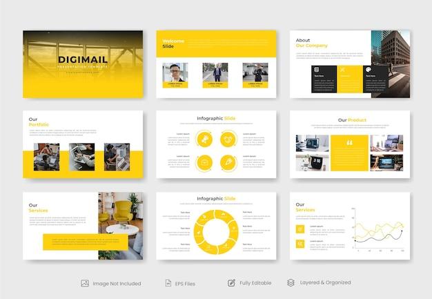 Шаблон слайда презентации powerpoint для современного корпоративного бизнеса