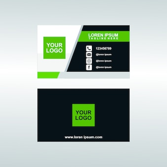 Modern corporate bussines card template premium