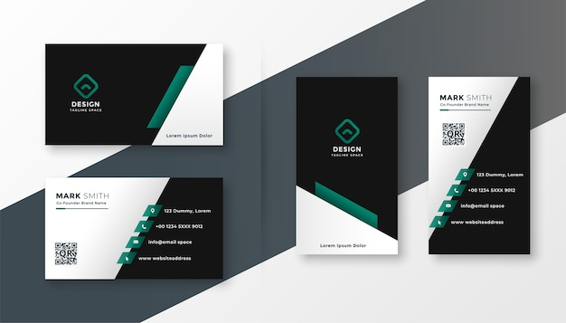 Modern corporate company business card design template
