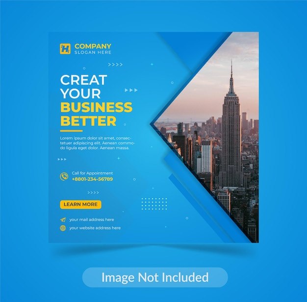 Modern corporate creative digital business agency flyer social media post template design