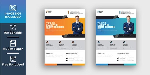 Modern corporate flyer design template