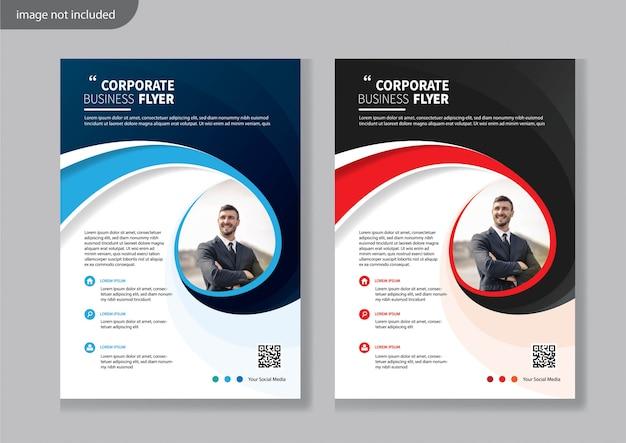 Современный корпоративный шаблон дизайна флаера