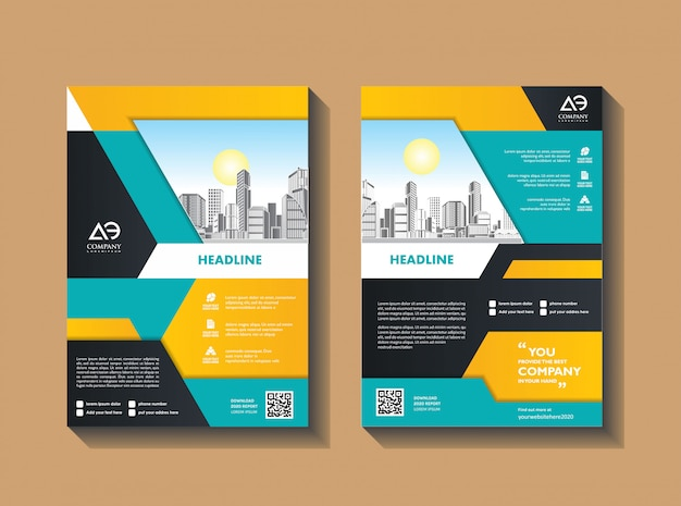 Modern corporate informative flyer template