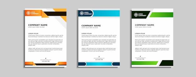 Modern corporate letterhead template design