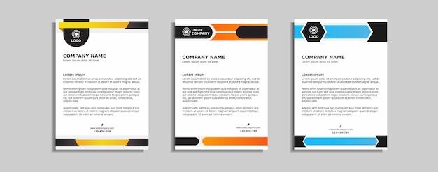 現代の企業のレターヘッドテンプレートデザイン
