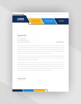 Modern corporate style letterhead template design.