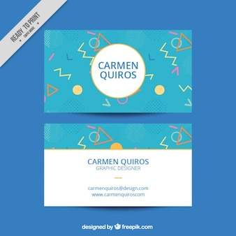 Modern corporative card of graphic designer