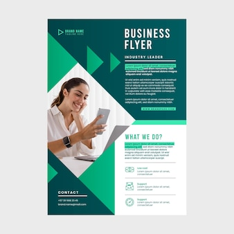 Modern corporative flyer template