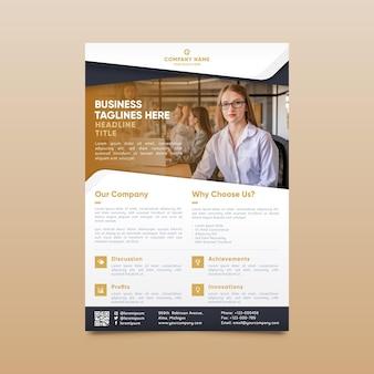 Modern corporative print template