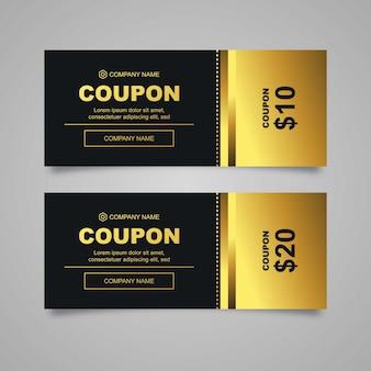 Modern coupon design template