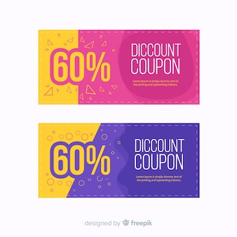 Modern coupon or voucher  template concept