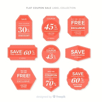 Modern coupon sale label collection