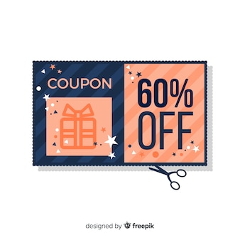 Modern coupon template concept