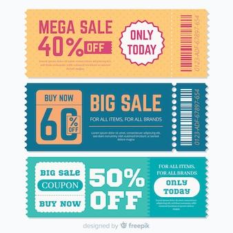 Modern coupon template design