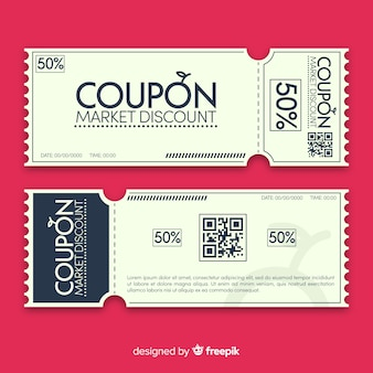 Modern coupon template design