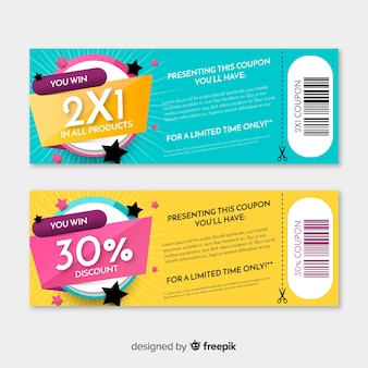 Modern coupon template
