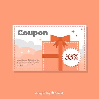 Modern coupon template