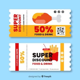 Modern coupon or voucher  template design