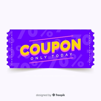 Modern coupon or voucher  template