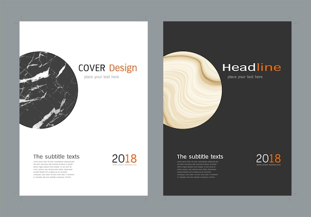 Modern cover book design template