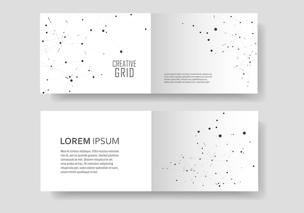 Modern cover brochure with technological design