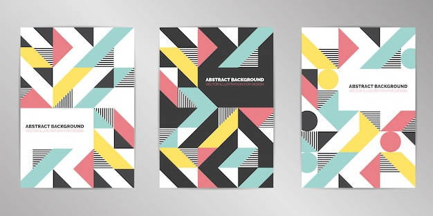 Modern cover design background set a4 format