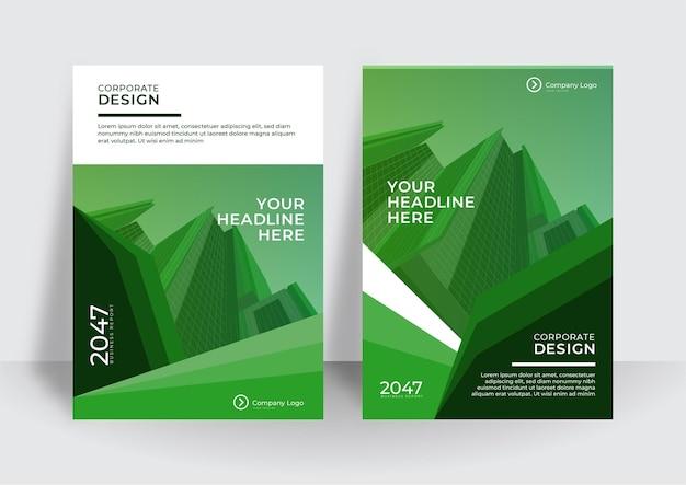 Modern cover design template. corporate annual report or book design template