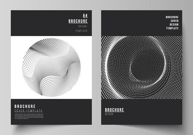幾何学的抽象技術デザインのモダンなカバーデザインテンプレート