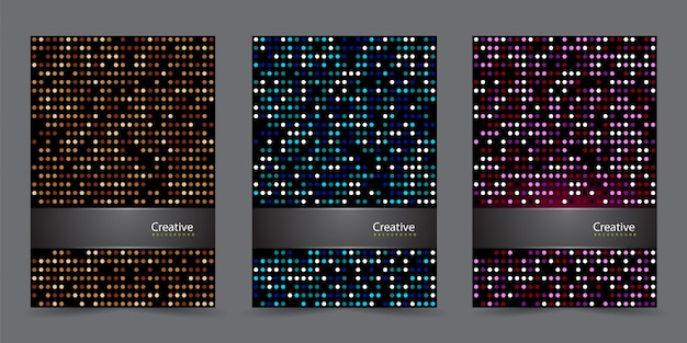 Modern cover template set with abstract