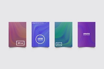 Modern covers set. Abstract shapes composition. Futuristic minimal design. Useful patterns.