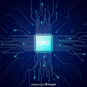 Modern cpu background with gradient style