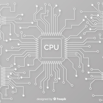 Modern cpu background with linear style