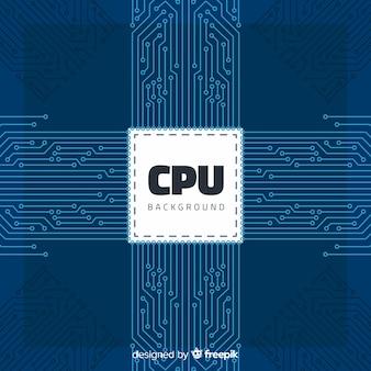 선형 스타일의 현대 cpu 배경 무료 벡터