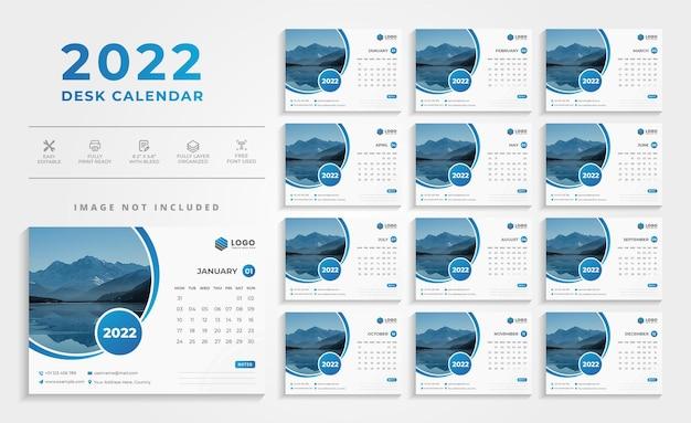Modern creative 2021 desk calendar design