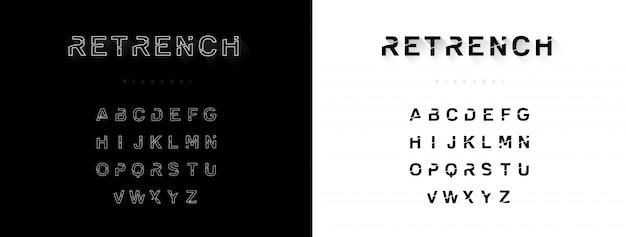 Modern creative alphabet font set design