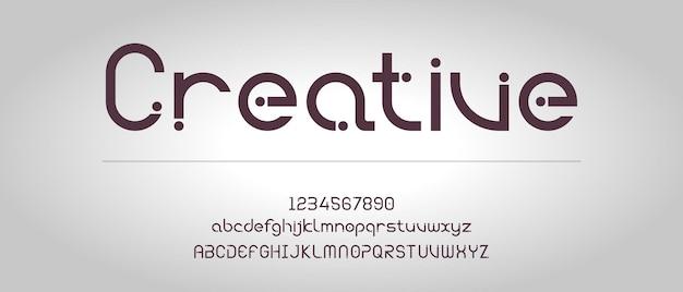 Современный творческий алфавит с шаблоном городского стиля