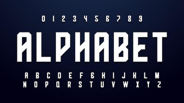 Modern creative bold font