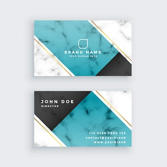 Modern creative business card in marble texture