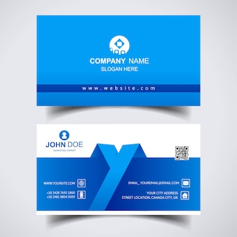 Modern creative business card template design